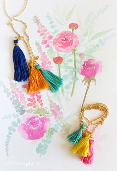 Craftberry Bush | Tassel necklace and bracelet DIY | http://www.craftberrybush.com