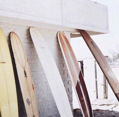 surf boards against