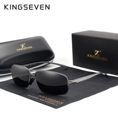 KINGSEVEN 2019 Brand Design Lunettes De Soleil Polarisées Hommes Conduite nuances Male UV400