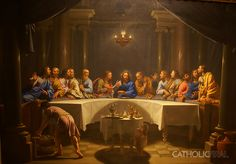 Last Supper - Phillipe de Champaigne Paintings of the Passion, Death and Resurrection of Jesus Christ The Last Supper Painting, Last Supper Art, Philippe De Champaigne, Jesus Mother, Pictures Of Jesus Christ, Jesus Painting, Jesus Christus, Jesus Resurrection, Biblical Art