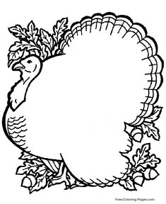 turkey head coloring pages | Turkey head pattern. Use the printable outline for crafts ...