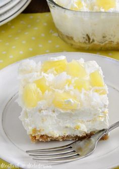 No Bake Pineapple Dream Dessert ~ Weekend Potluck #276 - The Country Cook