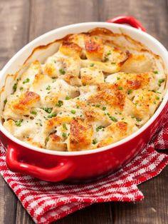 Gratin de cabillaud aux pommes de terre : Recette de Gratin de cabillaud aux pommes de terre - Marmiton