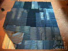 Little Birdie Secrets: denim picnic blanket quilt-along - part 1