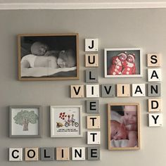 sandubois a ajouté une photo de son achat Scrabble Letters, Wood Letters, Photo Deco, Used Vinyl, Letter Wall, Grey Wood, Wood Colors, Scandinavian Style, Contemporary Style
