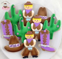 Custom Wedding Cookies, cactus cookies, cowboy boot cookies, cowboy hat cookies…
