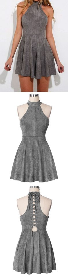 short homecoming dresses,grey homecoming dresses,simple homecoming dresses,cheap homecoming dresses @simpledress2480