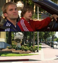 "The 2000 blockbuster Dude, Where's My Car? was filmed entirely in and around the Los Angeles area. This corner where the boys pull up next to Fabio and try to ""out cool"" him is located in Glendale."