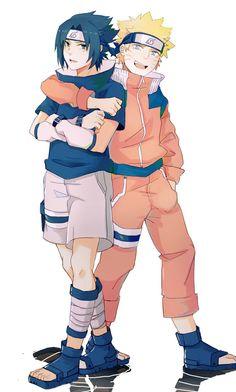 Sasuke Uchiha x Naruto Uzumaki/Namikaze (SasuNaru/NaruSasu) Naruto Uzumaki Shippuden, Naruto Shippuden Sasuke, Naruto Kakashi, Sasunaru, Anime Naruto, Naruto Teams, Naruto Fan Art, Naruto Cute, Narusasu
