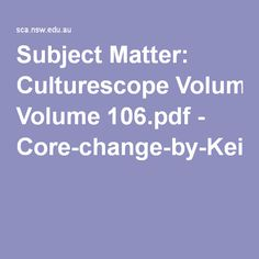 Concepts: Social and cultural continuity and change. Culturescope Volume 106.