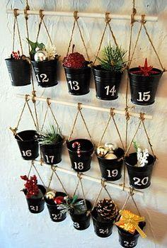 DIY Pottery Barn Advent Calendar