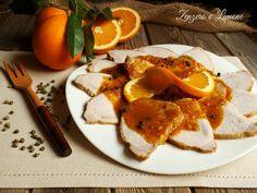 La lonza di maiale all'arancia è il classico piatto da invito. Un arrosto che ben si presta ad essere servito in occasione di cene con ospiti.