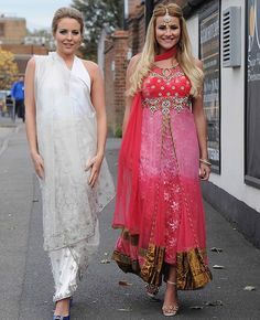 Billie Faiers and Ferne McCann attend Jasmin Walia's Diwali party Diwali Fashion, Ferne Mccann, Pakistani Culture, Diwali Party, Indian Princess, New Fashion Trends, Women's Fashion, Western Girl