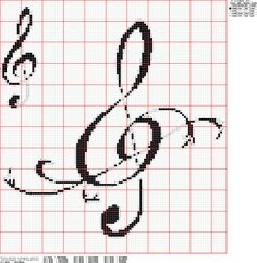 Cross stitch pattern for music lovers