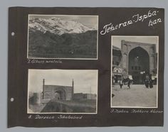 Photograph Album II: Travels in Iran. Metropolitan Museum of Art (New York, N.Y.). Department of Islamic Art. Ernst Herzfeld Papers. #travel #iran #mountains