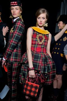 Tweeds, tartans and plaids were plentiful at the autumn/winter 2013-2014 shows. Harper's Bazaar