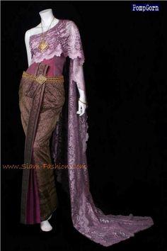 thai lavender wedding dress