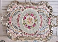 I never thought of mosaic in a tray...I love this idea!