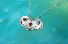 Mommy Necklace  Hand Stamped  3 Discs  by CraftyCreations3 on Etsy, $25.00 ...Its beautiful! I just received my order!