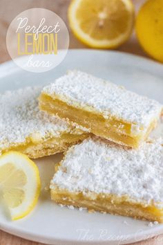 Perfect Lemon Bars at http://therecipecritic.com  Perfectly baked and deliciously tangy lemon bars!