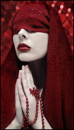 'Sister of the Dark' † #fashion #nun #female #model #nunsploitation colour, color, red red, prayers, dark fashion, red prayer, photography, burgundy, female models