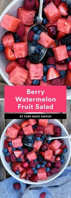 9 Fruit Salads That Will Impress the Hell Out of Every Barbecue Guest Best Fruit Salad Recipes to Feed a Crowd Watermelon Healthy, Watermelon Fruit Salad, Best Fruit Salad, Summer Salads With Fruit, Fruit Salad Recipes, Dessert Recipes, Salad With Fruit, Melon Fruit Salad Recipe, Fruit Sald