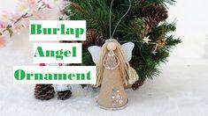 Christmas Angel Ornaments, Christmas Tree Toppers, Christmas Crafts, Christmas Decorations, Holiday Decor, Handmade Angels, Diy Doll, Burlap, Handmade Items