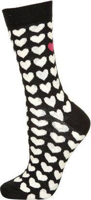Black Odd Heart Ankle Socks  £ 3.50 Topshop