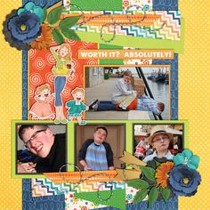 Layout using My Crazy Life | Elements by LJS Digital Designs