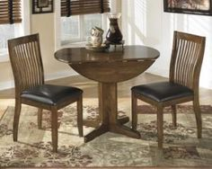 Small Round Drop Leaf Dining Table With Wooden Base Painted With Dark Brown Color And 2 Chairs For Small Dining Room Spaces Ideas, Small Drop Leaf Table Furniture Shabby Chic Furniture, Dining Furniture, Dining Chairs, Office Furniture, Side Chairs, Modern Furniture, Classic Furniture, Furniture Stores, Dream Furniture