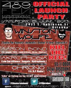15 June 2013: Winston Wolfe @ Sandwich Bar [Orlando] w/ Aaron Bond, Akrophopbia & more!