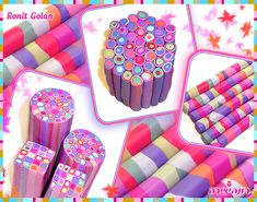Pink Plus by Ronit Golan Polymer Project, Polymer Clay Projects, Polymer Clay Creations, Clay Crafts, Polymer Clay Canes, Polymer Clay Jewelry, Biscuit, Play Clay, Clay Tutorials