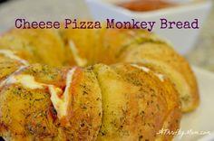 Cheese Pizza Monkey Bread Recipe ~ Savory Monkey Bread