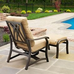 Telescope Casual Villa Deep Seating Conversation Set Teak by Telescope Casual Furniture. $1180.80. Relax in simple comfort with the Telescope Casual Villa Deep Seating Chair and Ottoman Set on your patio. The set includes a hidden motion chair and an ottoman for comfortable seating. The chair features a relaxing rocking motion and a comfortable high-back design. The high-quality ottoman delivers the ultimate outdoor footrest experience thanks to its super-thick cushion...