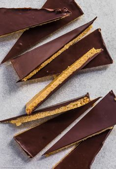 Chocolate Peanut Butter Crisp Bark! 6-ingredient rice puff crispy base topped with a layer of smooth dark chocolate!