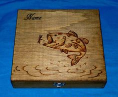 Wood Burned Cigar Box Personalized Gift Box by EssenceOfTheSouth