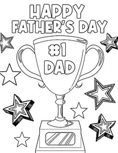 Diy Father's Day Gifts For Dad, Kids Fathers Day Crafts, Happy Fathers Day Cards, Dad Crafts, Fathers Day Art, Father's Day Diy, Superhero Coloring Pages, Cute Coloring Pages, Free Printable Coloring Pages