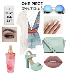 """I Slay All Day"" by maria-plx on Polyvore featuring Camilla, Alexander Wang, Call it SPRING, House of Harlow 1960, Victoria's Secret, MICHAEL Michael Kors, City Chic, Lime Crime and onepieceswimsuit"