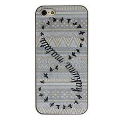 dubbele cirkel wilde ganzen gekleurde tekening patroon zwart frame pct harde case voor iPhone 5/5s