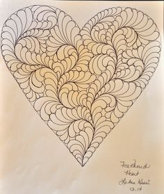 LuAnn Kessi: Feathered Heart.....Machine Quilting tutorial http://luannkessi.blogspot.com/2015/01/feathered-heartmachine-quilting.html