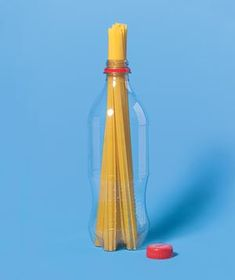 Measure spaghetti portions by using the mouth of a 20 oz plastic bottle.