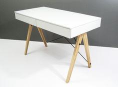 Biurko BASIC MINKO www.euforma.pl #desk #design #home #office #homeoffice #white #kids #room