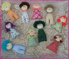 Best 12 Could size these for dollhouse? Tiny Dolls, New Dolls, Soft Dolls, Diy Rag Dolls, Sewing Dolls, Cute Sewing Projects, Clothespin Dolls, Fabric Toys, Doll Crafts
