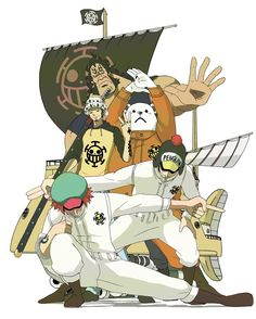 One piece Law's Crew Or at least some of the important ones.