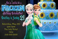 Frozen Invitation  Frozen invite  Elsa by KidzPartyPrintables