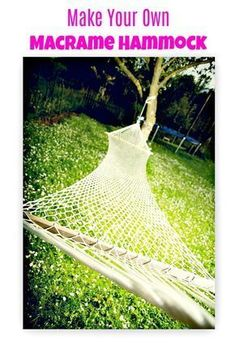Macrame Patterns- Make Your Own DIY Macrame Hammock For Your Outdoor Decor - Free Tutorial