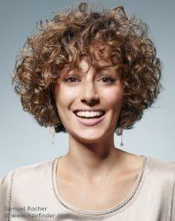 Short hairstyle with small curls