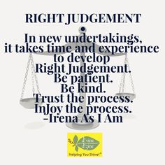#RightJudgement