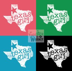 CORAL  Texas Girl  TShirt Graphic Tee by SunshineWhiskeyShirt, $26.99