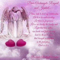 Dear Archangels Raguel and Jophiel. Archangel Raguel, Angel Quotes, Angel Sayings, Prayer For Guidance, Archangel Prayers, Angel Guide, Angels In Heaven, Heavenly Angels, Prayers For Healing